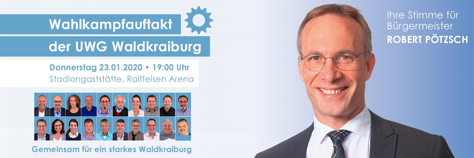 Wahlkampfauftakt der UWG Waldkraiburg