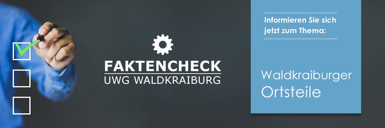 UWG Faktencheck Waldkraiburger Ortsteile