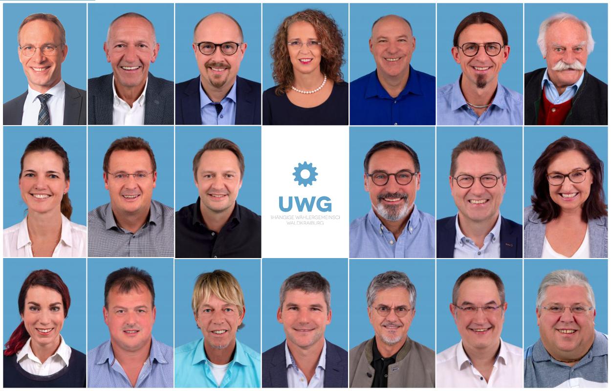 UWG Waldkraiburg Stadtratskandidatinnen und -kandidaten
