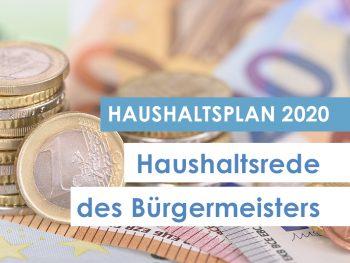 Haushaltsrede 2020 des Bürgermeisters